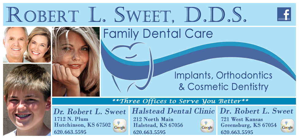Hutchinson, Halstead, and Greensburg KS dentist, Dr. Robert L. Sweet